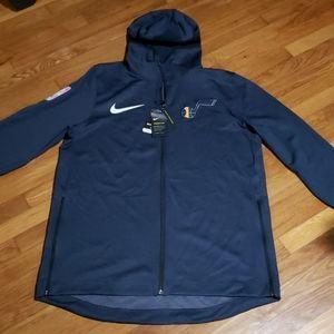 Men's Utah Jazz Nike Navy Authentic Showtime Therm